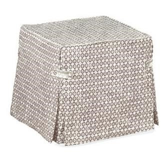 Ottomans Slipcover Ottoman by Four Seasons Furniture at Jordan's Home Furnishings