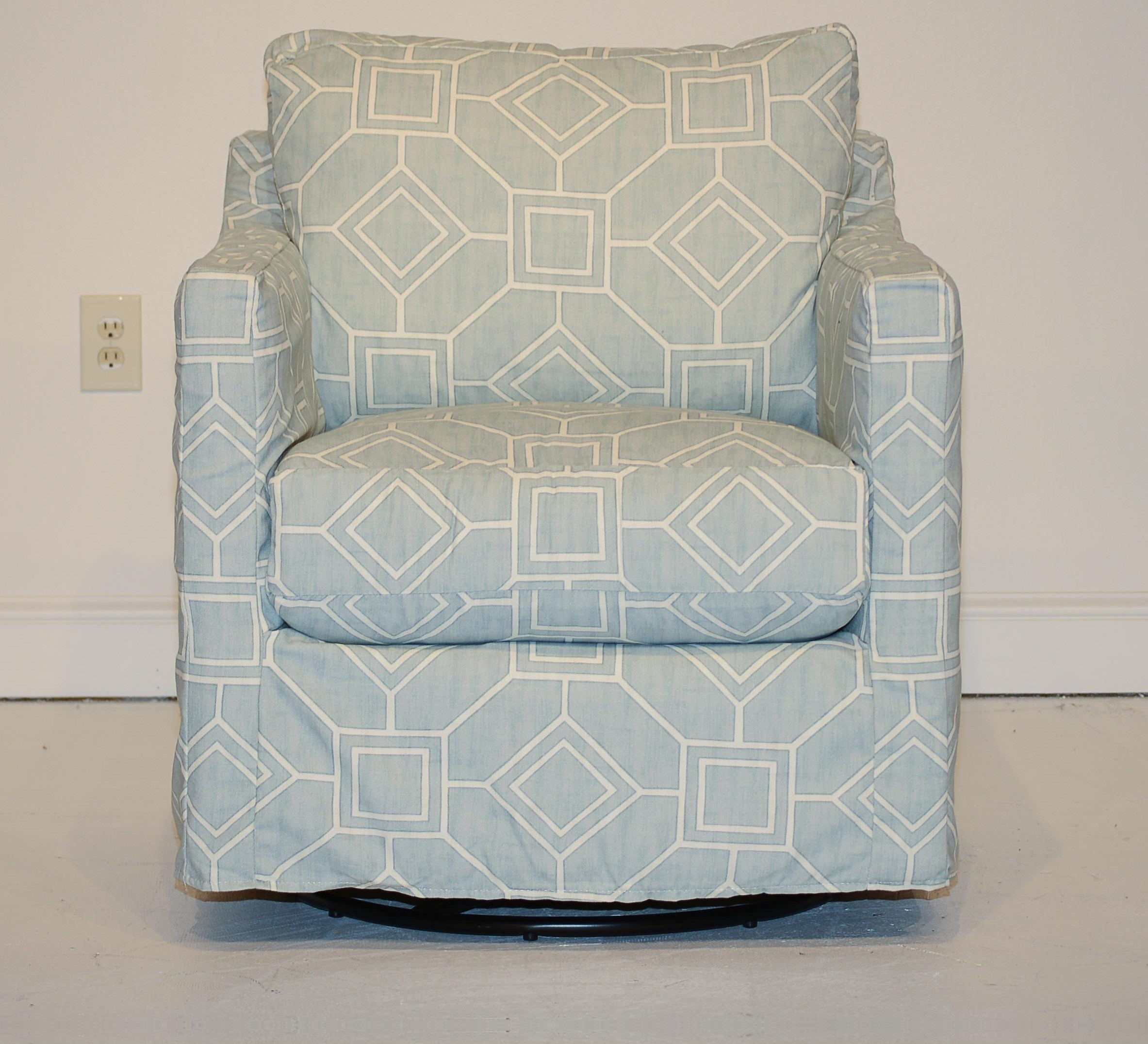 Miles Swivel Glider by Four Seasons Furniture at Malouf Furniture Co.