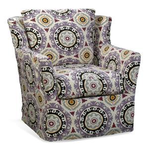 Upholstered Swivel Glider Chair