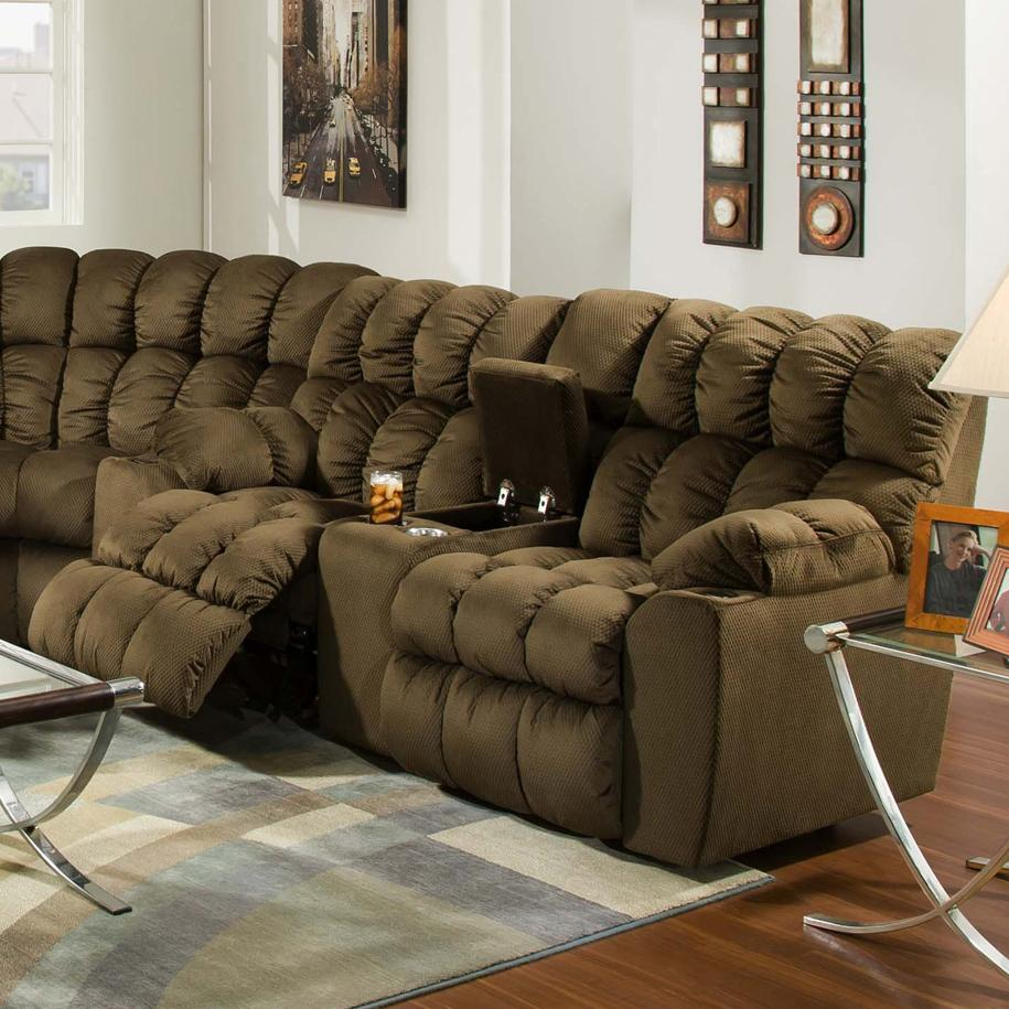 Brayden Reclining Console Loveseat by Franklin at Story & Lee Furniture