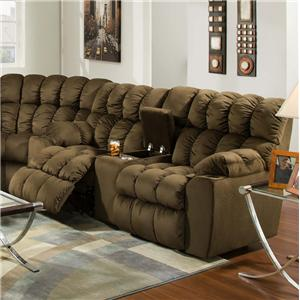 Casual Styled Reclining Console Loveseat