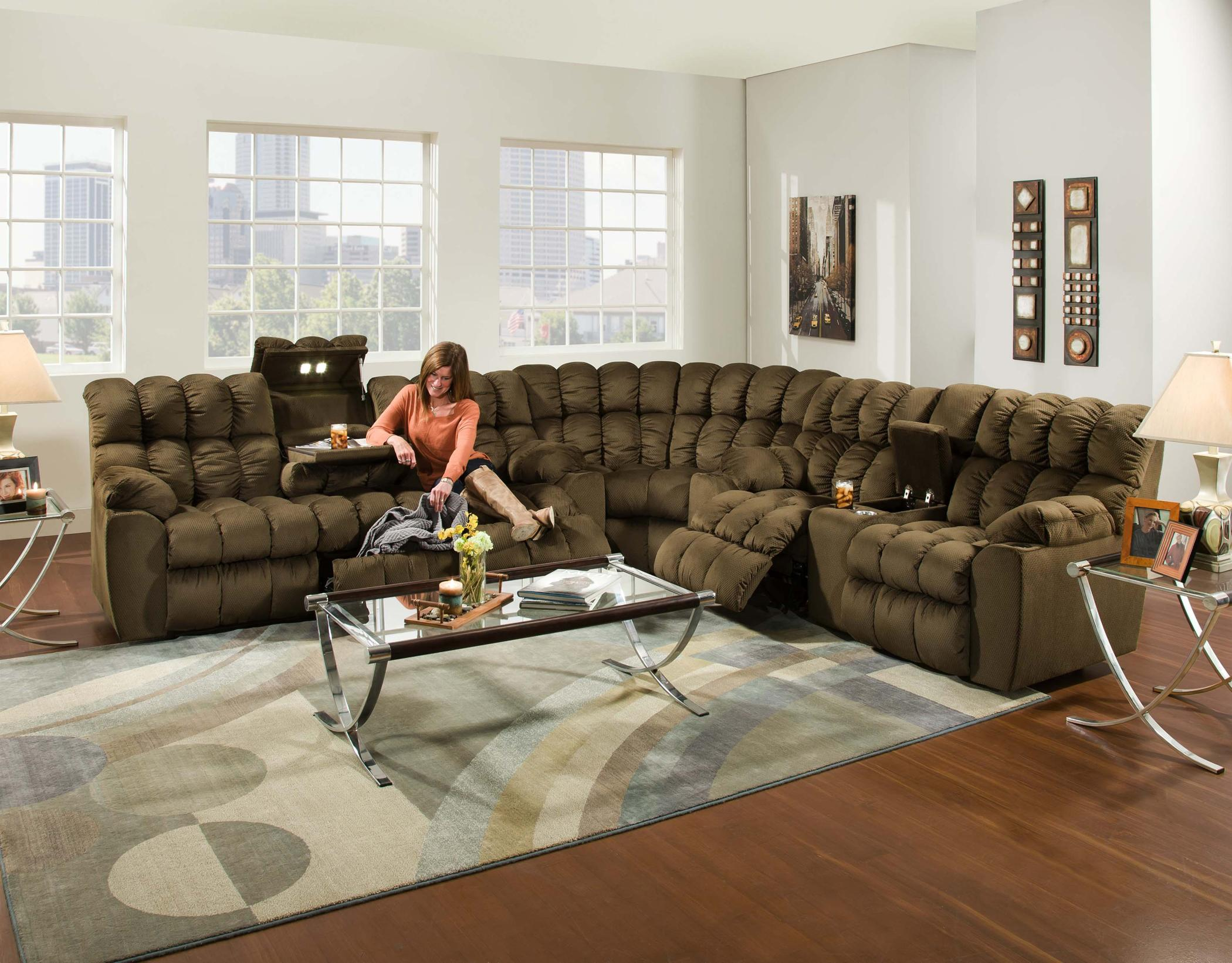 Brayden Reclining Sectional Sofa by Franklin at Lagniappe Home Store