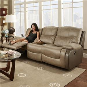 Double Reclining Sofa with Scoop Seat