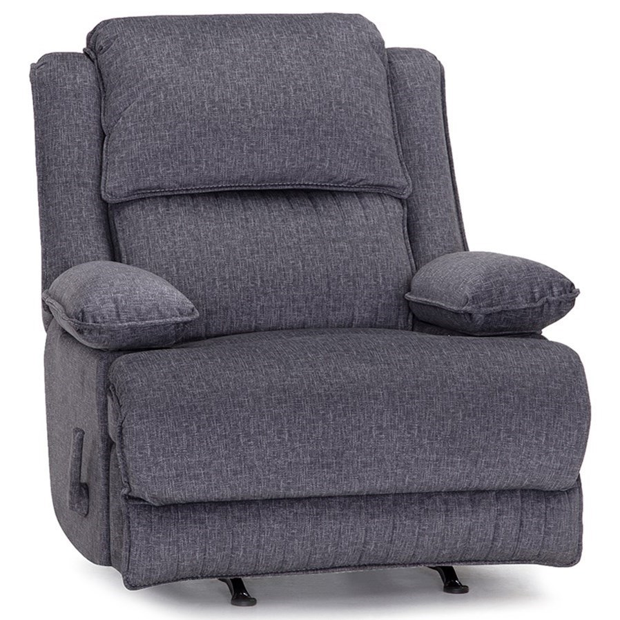 4578 Rocker Recliner with Dual Storage Arms by Franklin at Lagniappe Home Store