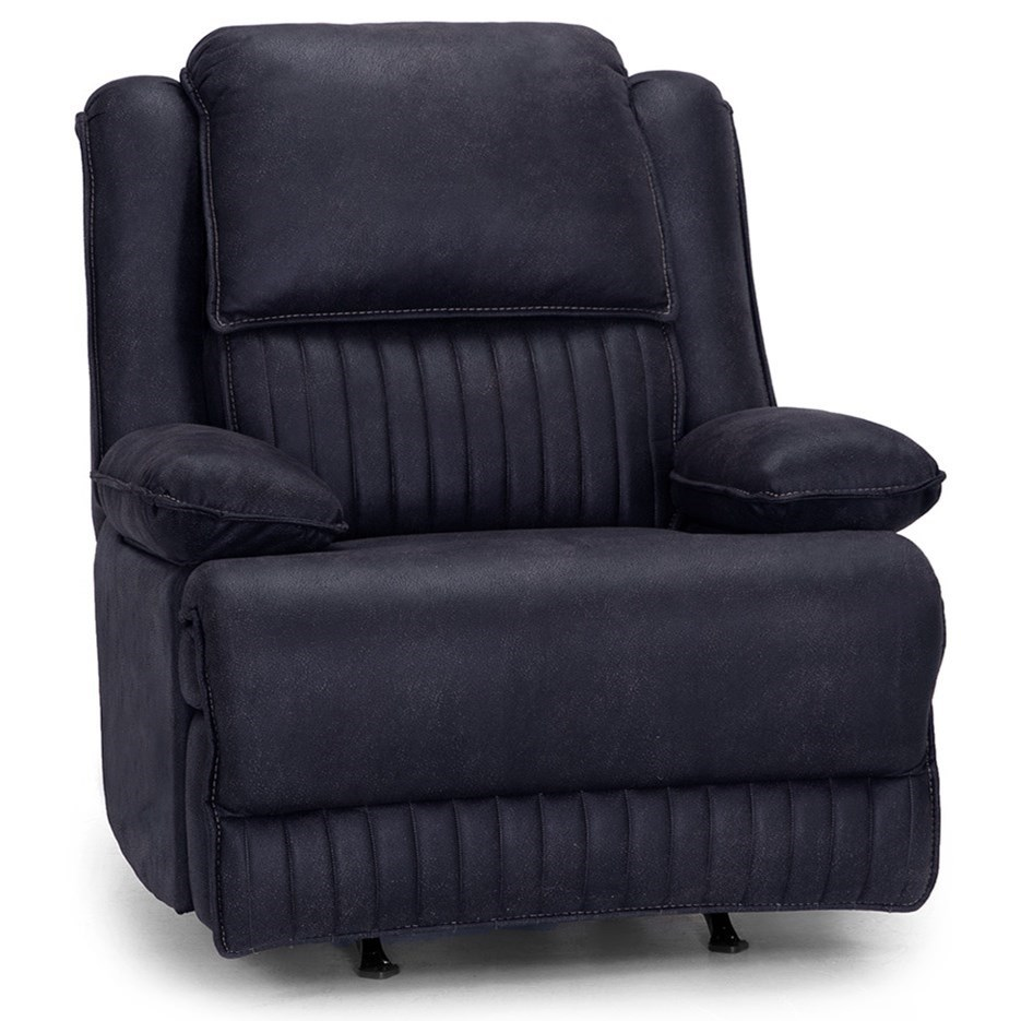 4578 Power Rocker Recliner with Dual Storage Arms by Franklin at Fine Home Furnishings