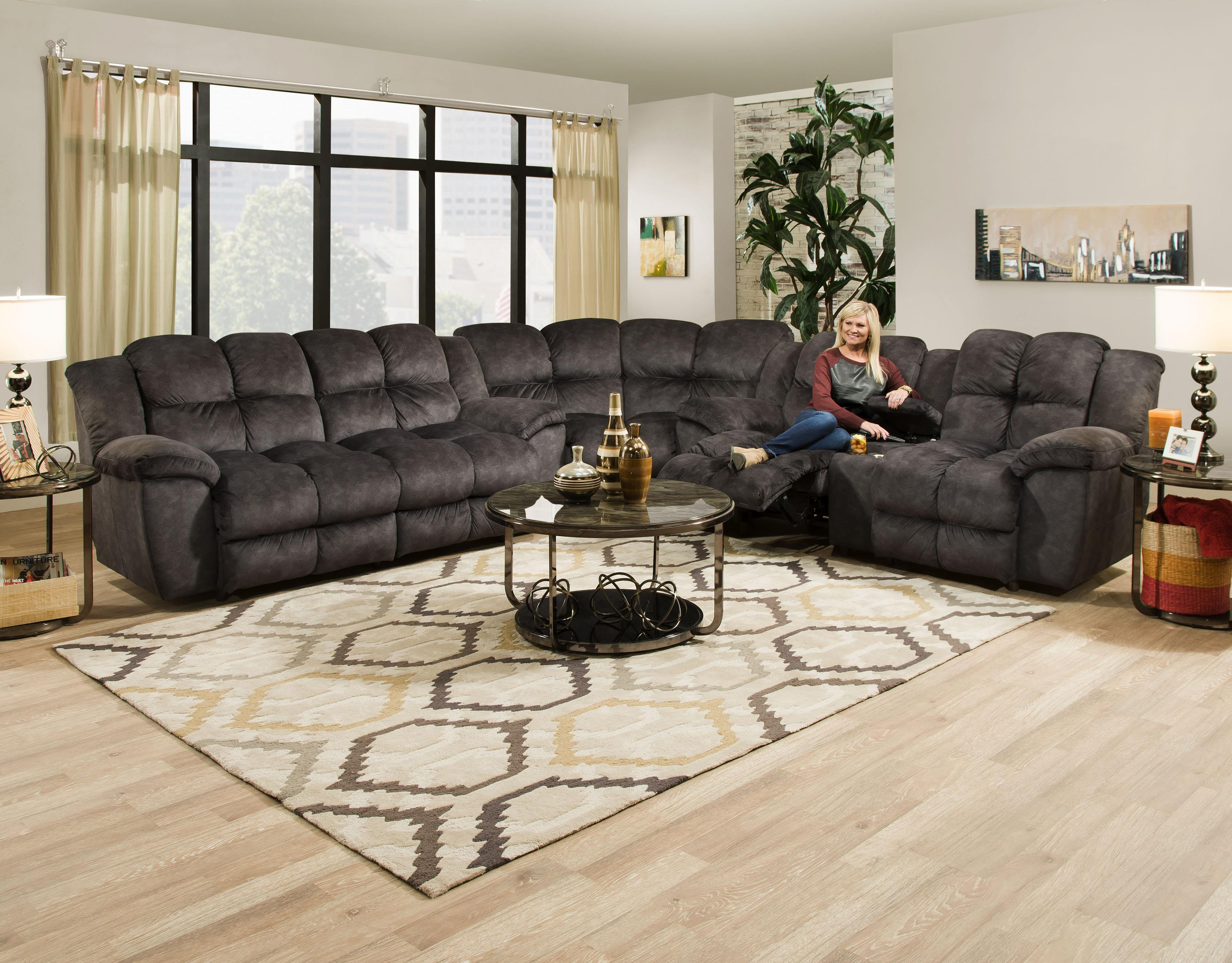 461 Reclining Sectional by Franklin at Lagniappe Home Store