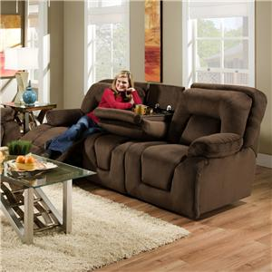 Franklin 473  Double Reclining Sofa with Table