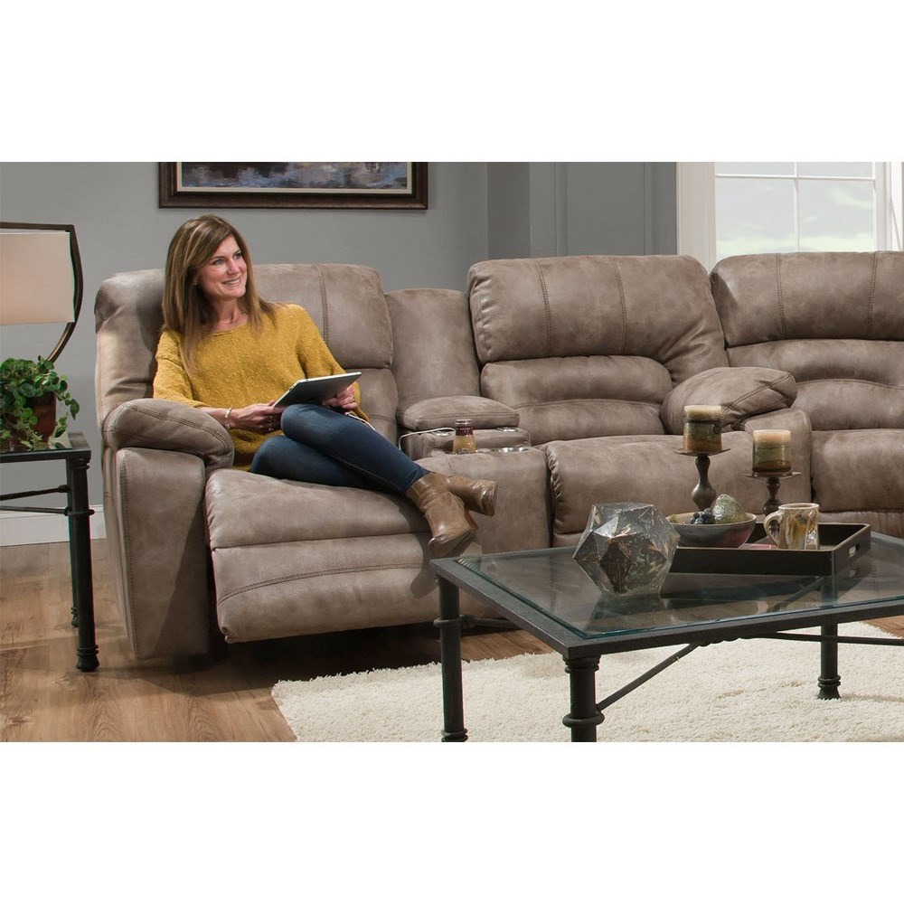 Legacy Power Reclining Console Loveseat by Franklin at Wilcox Furniture