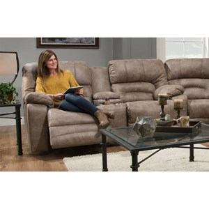 Power Reclining Console Loveseat with Cup-Holders and Integrated USB Port
