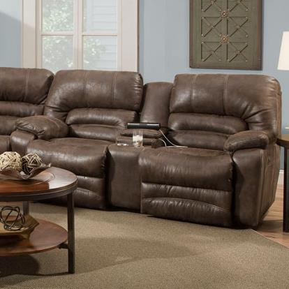 Legacy Power Reclining Console Loveseat by Franklin at Lagniappe Home Store