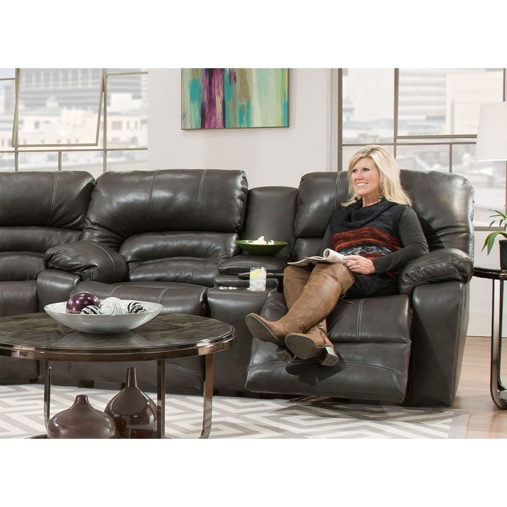 Legacy Reclining Console Loveseat by Franklin at Wilcox Furniture