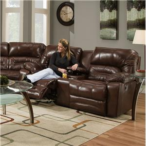 Reclining Console Loveseat with Cup-Holders