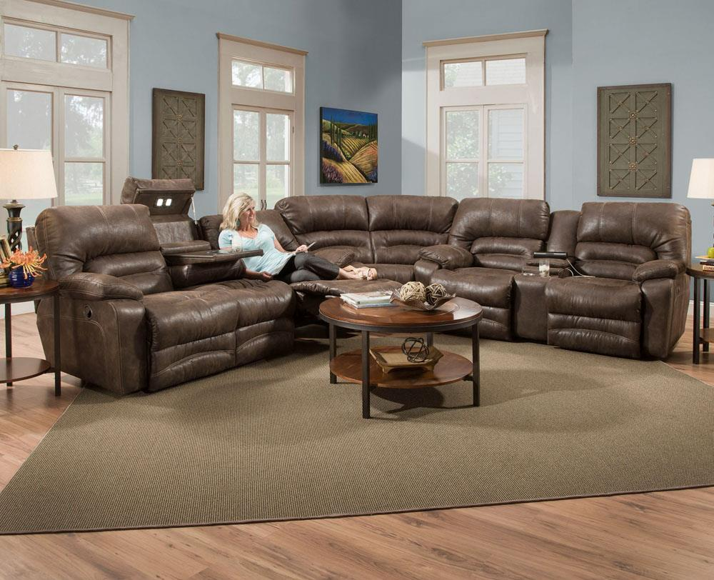 Legacy Reclining Sectional Sofa by Franklin at Catalog Outlet
