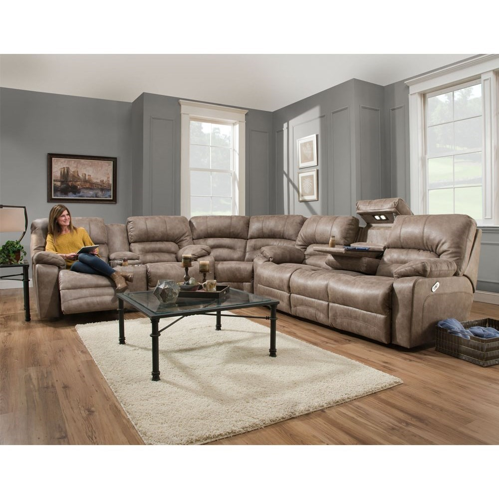 Legacy Reclining Sectional Sofa by Franklin at Lagniappe Home Store