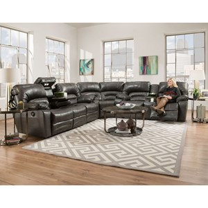 Power Reclining Sectional Sofa with Drop Table, Lights and Console