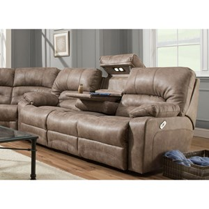 Reclining Sofa with Table and Lights
