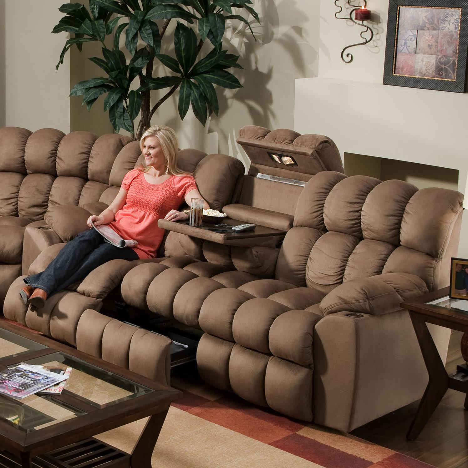 542 Sofa DDT/Drawer/Lights by Franklin at Fine Home Furnishings