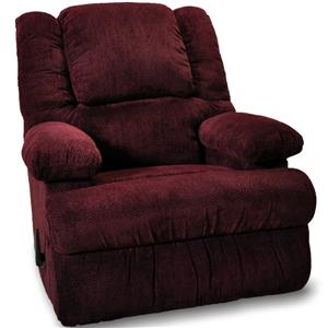 Casual Rocker Recliner with Two Storage Arms