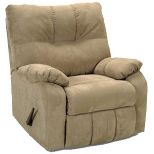 Rocker Recliner with Pillow Arms