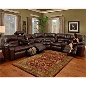 3 Piece Motion Sectional with Storage & Lights