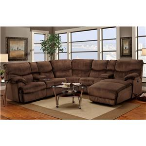 Casual Reclining Sectional Sofa with Right-Side Chaise