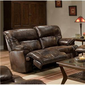 Casual Rocker Recliner Loveseat