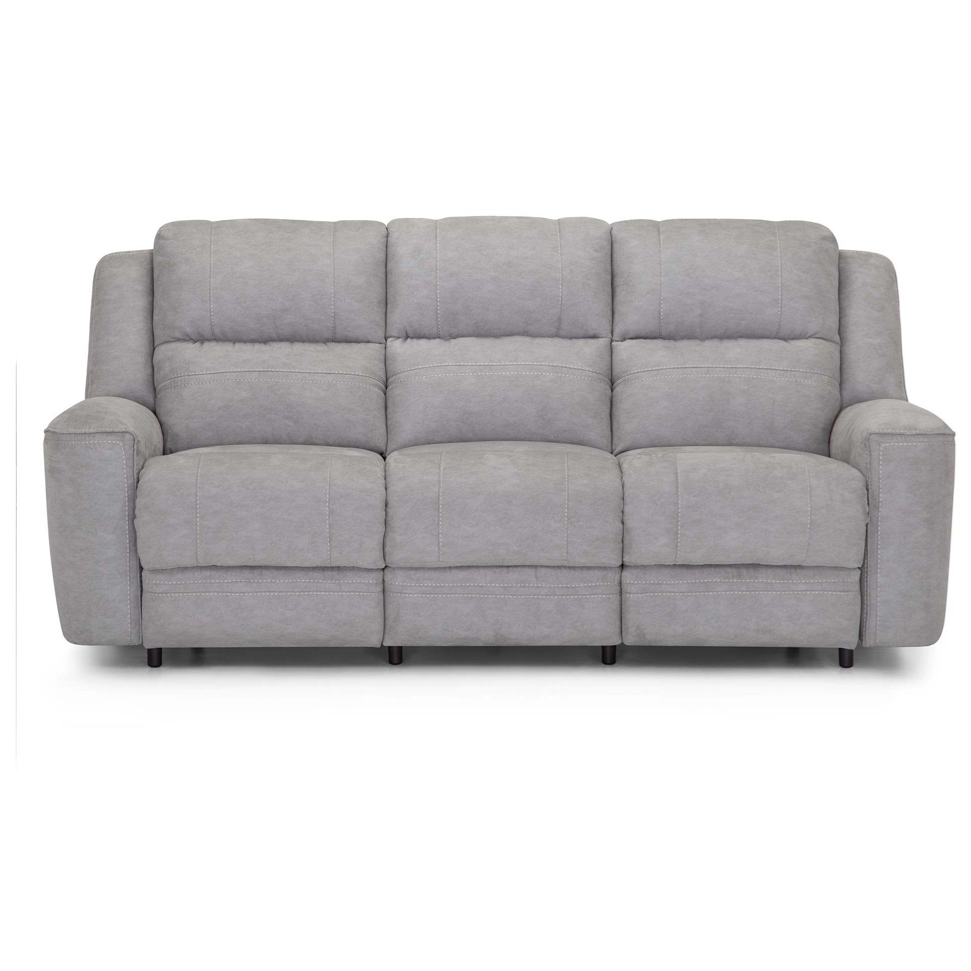 762 Dual Power Reclining Sofa with USB Port by Franklin at Van Hill Furniture