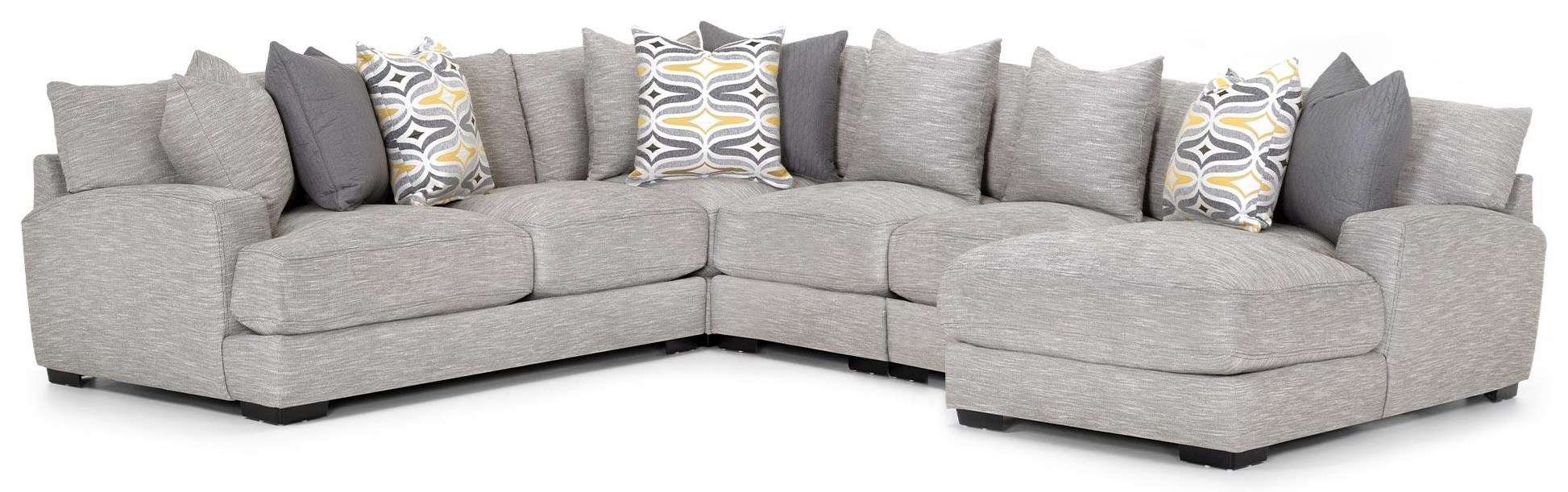 Brendan Sectional with Chaise by Franklin at Crowley Furniture & Mattress