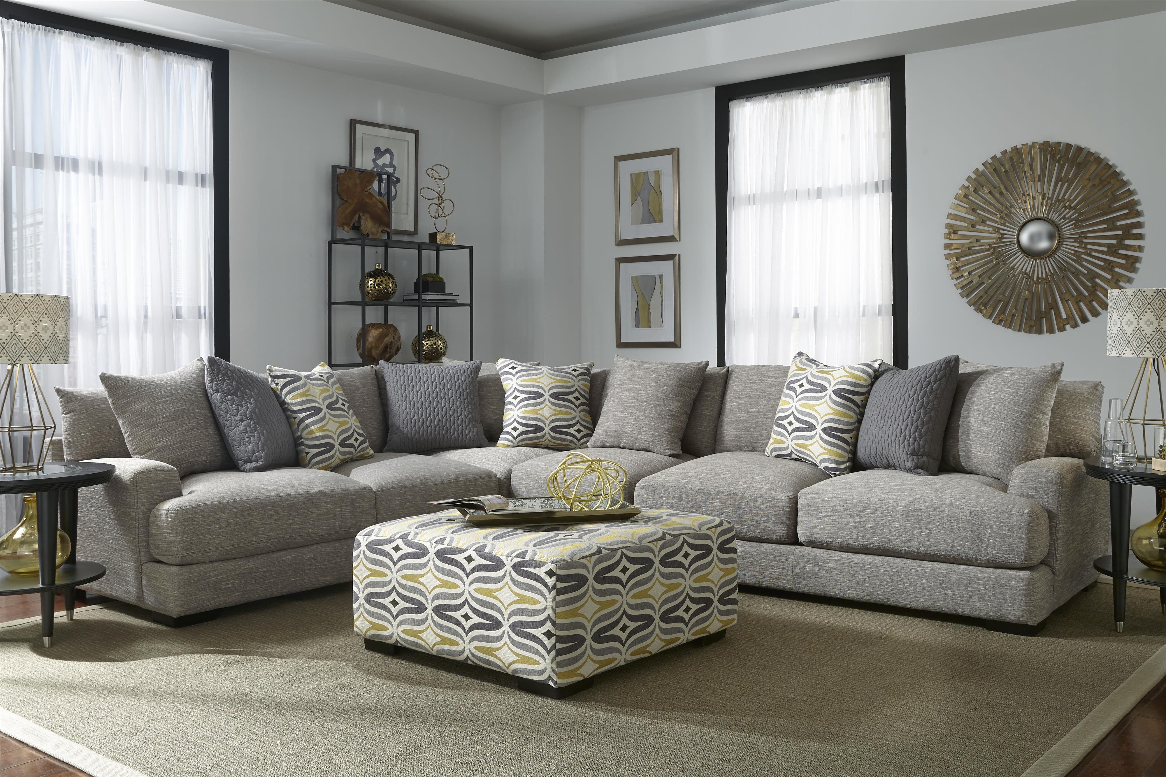Barton Sectional Sofa with 5 Seats by Franklin at Catalog Outlet