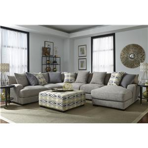 Sectional Sofa with 5 Seats and Chaise