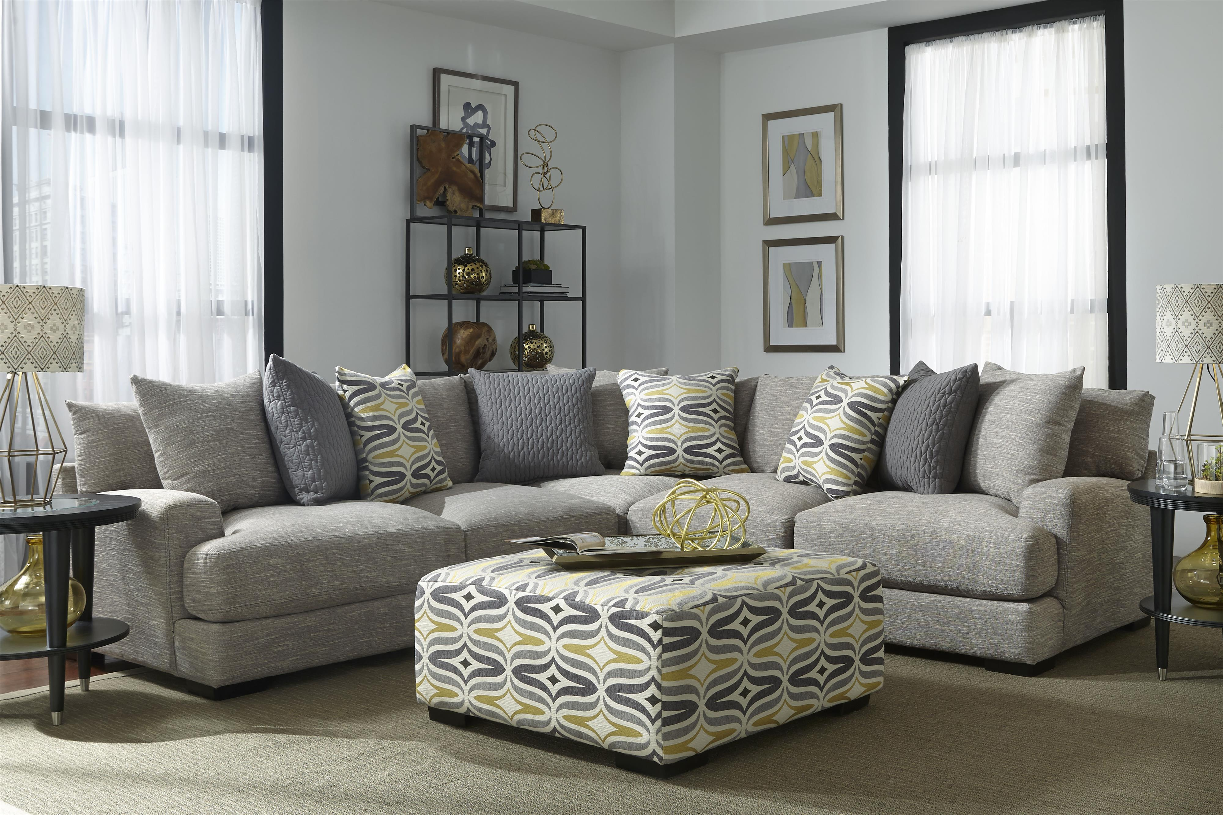 Barton Sectional Sofa with 4 Seats by Franklin at Darvin Furniture