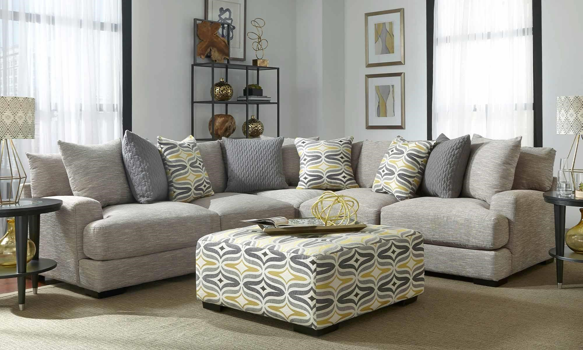 Brendan Sectional Sofa with 5 Seats by Franklin at Crowley Furniture & Mattress