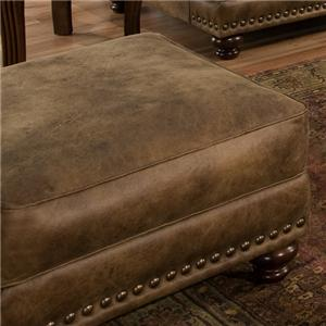 Rustic Ottoman in Traditional Furniture Style