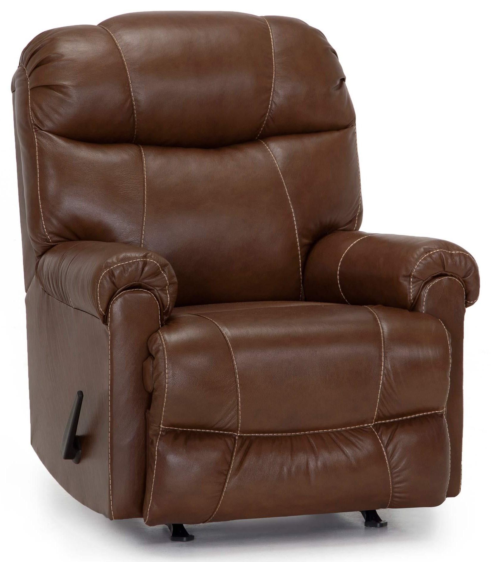 8566 Leather Rocker Recliner by Franklin at Furniture Fair - North Carolina