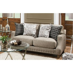 Loveseat with Transitional Style