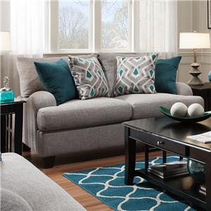 Loveseat with Bold Accent Pillows