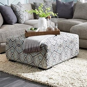 Square Ottoman with Button Tufts