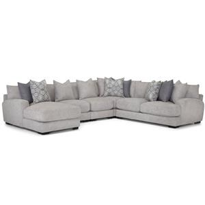 5 Pc sectional Grey with Left Arm Facing Chaise