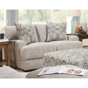 Casual Loveseat with Track Arms