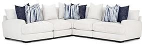 903 Three Piece Sectional-White by Franklin at Furniture Fair - North Carolina