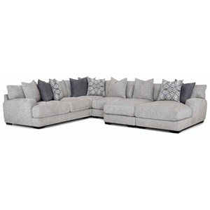 L-Shaped Sectional Sofa with Chaise