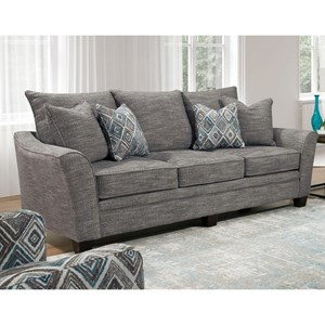 Transitional Sofa with Flared Track Arms