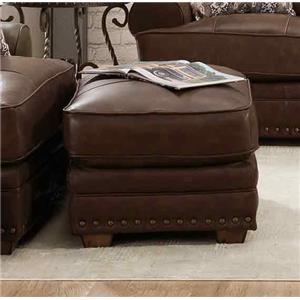 Tula Leather Ottoman