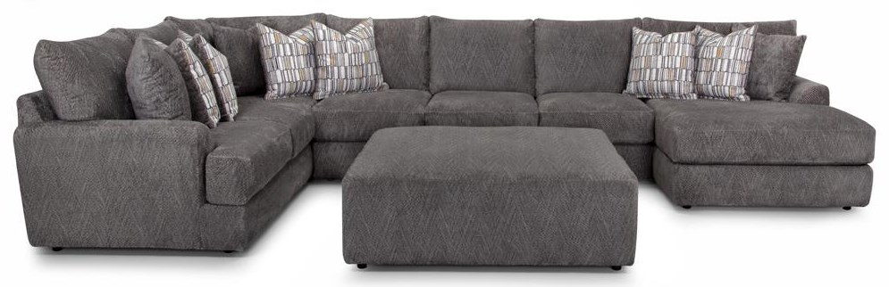 945 Sectional Three Piece Chaise Sectional by Franklin at Furniture Fair - North Carolina