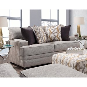 Loveseat with Track Arms