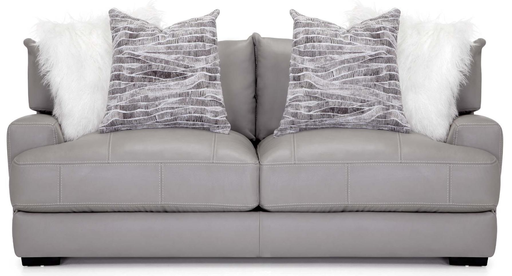 Antonia Leather Sofa at Bennett's Furniture and Mattresses