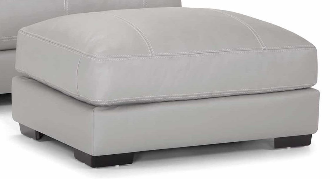 Antonia Leather Ottoman at Bennett's Furniture and Mattresses