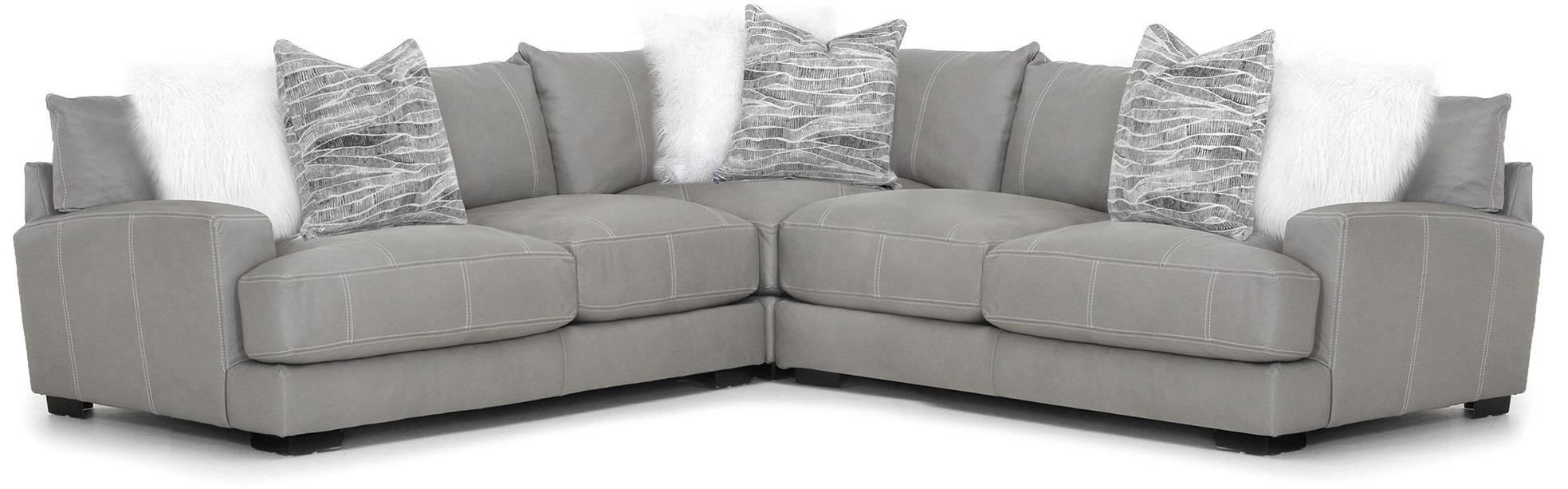 Antonia Leather Sectional at Bennett's Furniture and Mattresses