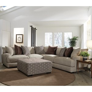 2 Piece L-Shaped Sectional with Track Arms