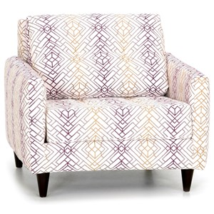 Siren Accent Chair with Track Arms